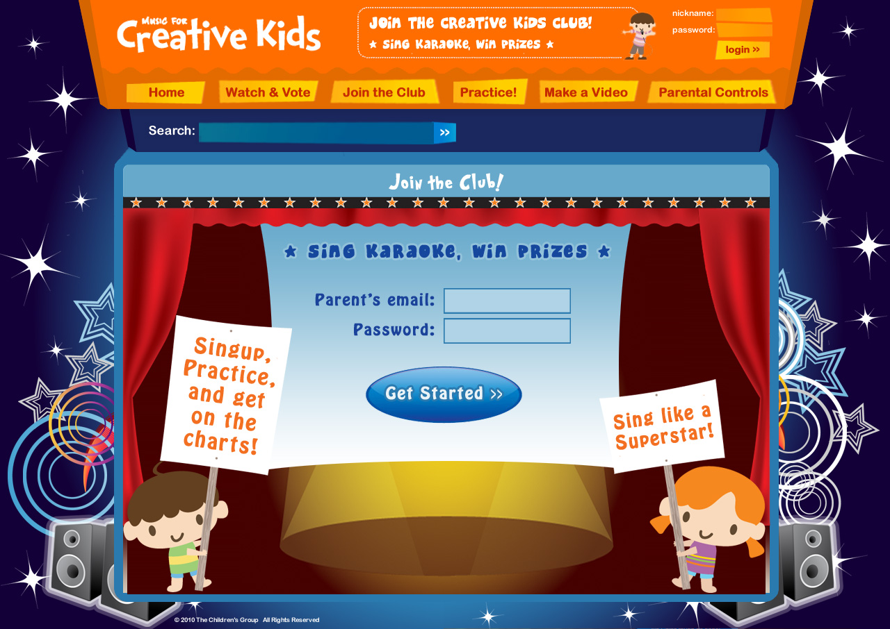 Club creative prizes for kids